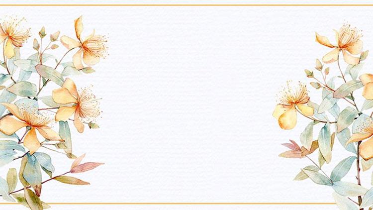水彩花卉PPT背景圖片