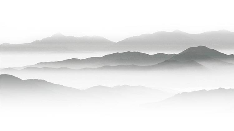 一组水墨山水PPT背景图片