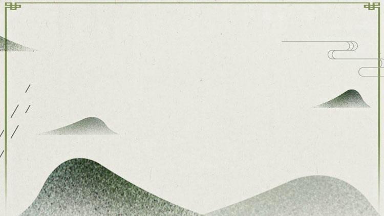 綠色簡約中國風PPT背景圖片