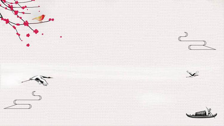 精美古典水墨中国风PPT背景图片
