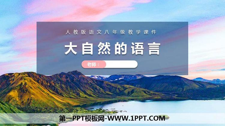 《大自然的语言》PPT课文课件